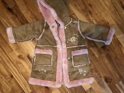 CHILDRENS PLACE- Pink & Tan Coat for 3T Girl