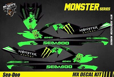Kit Déco pour / Decal Kit for Jet Ski Sea-Doo Gti / Gtr / Gts / Wake - Monster