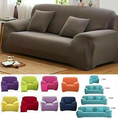 1/2/3/4 Seater Stretch Sofa Covers Elastic Slipcover Chair Couch Cover Protector