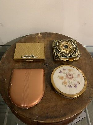 Job Lot Vintage Compacts Powder Art Deco Retro