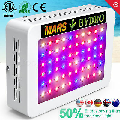 Mars Hydro 300W LED Grow Light Full Spectrum for Indoor Plants Veg Flower Lamp