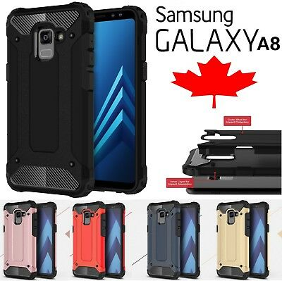 For Samsung Galaxy A8 2018 Shockproof Armour Hybrid 360 Heavy Duty Case Cover