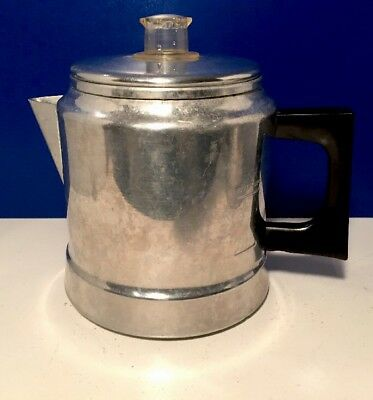"Vintage Aluminum ""COMET"" 5 Cup Stove Top Coffee Percolator Pot"