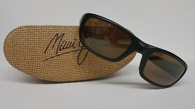 52f1d0eb89 Maui Jim Stingray Sunglasses Black w  HCL Bronze Polarized Lenses! 103-02  Rare