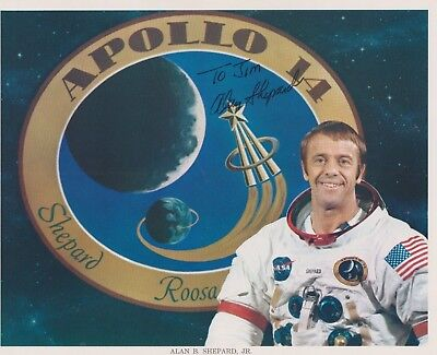 """ALAN B SHEPARD, JR. - NASA ASTRONAUT - 8""""x10"""" COLOR PHOTO SIGNED IN PERSON"""