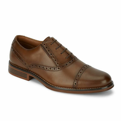 Dockers Mens Fuller Polished Business Dress Cap Toe Lace-up Oxford Shoe