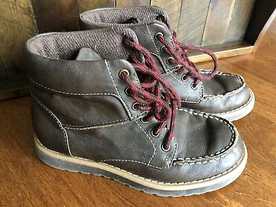KENNETH COLE REACTION Take Square DARK BROWN  BOYS BOOTS- Size 13 GUC