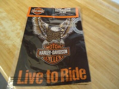 """Harley Davidson """"Live to Ride"""" Double-Sided Eagle Flag (12.5""""x18"""")"""