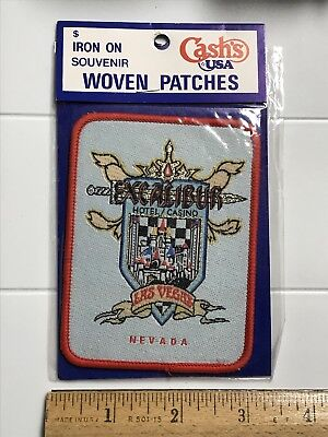 NIP The Excalibur Hotel Casino Las Vegas Nevada NV Souvenir Woven Patch Badge