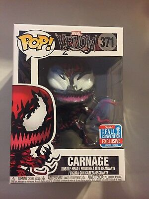 Nycc 2018 Carnage From Venoms Marvel Funko Pop With Fall Convention Ex. Sticker!
