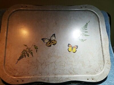 Vintage Butterfly Themed Lap Tray
