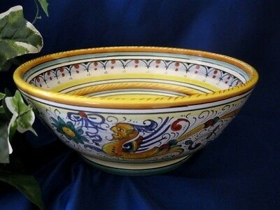 Deruta Raffaellesco Italian Pottery Serving Bowl Pasta Bowl