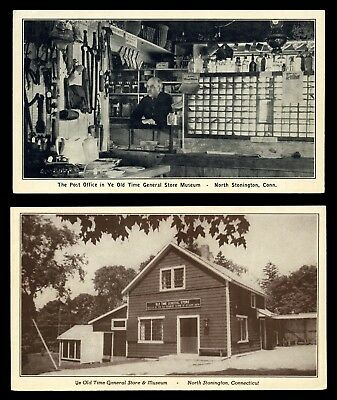 North Stonington, Ct ~ Ye Old Time General Store & Post Office 2 Ppc