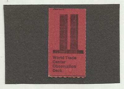 World Trade Center Twin Towers Ticket Stub