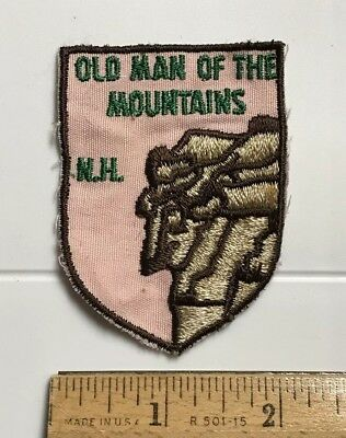 Old Man of the Mountains Rock Face New Hampshire NH Embroidered Patch Badge