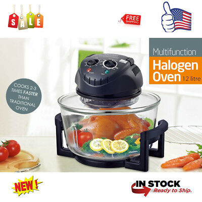 12 Quart Halogen Infrared Convection Cooker Countertop Oven Healthy Kitchen Gift