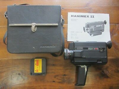 Hanimex Compact CPM53 Super 8 8mm Camera - with carry case