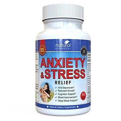 Anti Anxiety and Stress Relief Supplement by Natural Biomedical - All Natural...