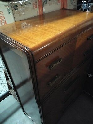 Waterfall Antique Dresser Furniture early 1900 wood wheels