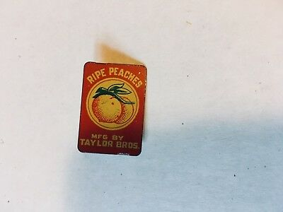 vintage Taylor Brothers Ripe Peaches tobacco tag nice