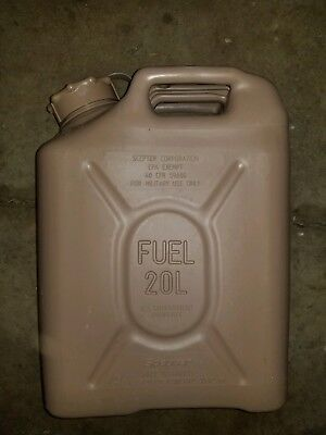 Scepter Us Military Fuel Gas Jerry Can 5 Gal 20L - Tan