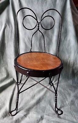Vintage Child's Ice Cream Parlor Chair Metal and wood ¤