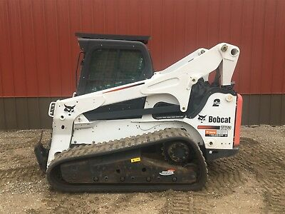 2013 Bobcat T870 Track Loader Skidsteer EROPS AC/Heat 2 Speed High Flow Forestry