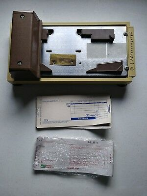 Vintage AM ADDRESSOGRAPH Manual Credit Card Imprint Machine Slider Receipts
