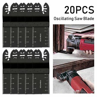 20Pack 34mm Oscillating Multi Tool Saw Blade Carbon Steel Cutter DIY Universal M