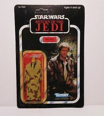 Vintage Star Wars Return of the Jedi Han Solo in Trench Coat - Kenner 1984