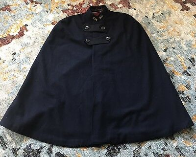 WW2  Bruck's Wool Nurse Cape Uniform Coat Cloak Navy Blue Red Very Nice Kept