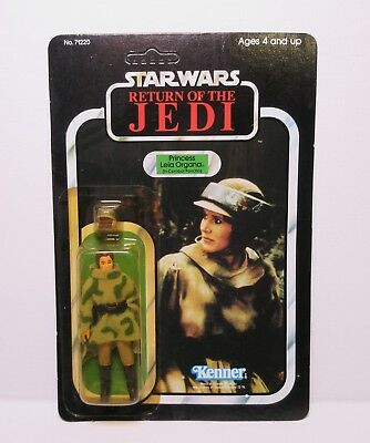Vintage Star Wars Return of the Jedi Princess Leia in Combat Poncho 1984 Unpunch