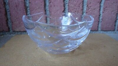 Faberge Crystal Pinecone Bowl Signed 7 In Diameter 4 In Deep Discontinued No Box
