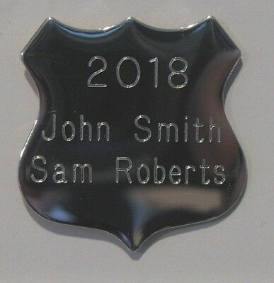 Engraved Silver Shield (4 Sizes to Choose From)