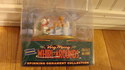 Rudolph Very Merry Whirl Arounds Spinning Ornament Collection Blockbuster 1999