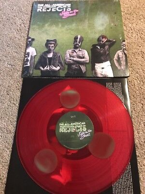 ALL AMERICAN REJECTS Kids In The Street RED/GREEN WATERMELON Vinyl Record LP