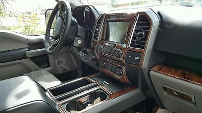2015 2016 2017 Interior Wood Dash Trim Kit For Ford F150 F-150 Xl Xlt Platinum