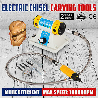 Electric Chisel Carving Tools Wood Chisel Carving Machine Kit& 5 Blades 220V