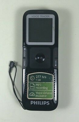 PHILIPS Voice Tracer LFH0632 Black Digital Recorder 1GB Tested & Works!