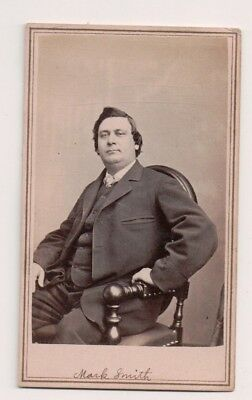 Vintage CDV Mark Smith Early American Actor Anthony / Brady Photo
