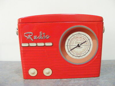 Collectable Radio Shaped Tin - Very Good Condition
