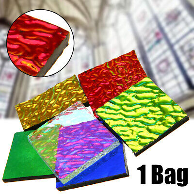 1 bag 28g COE90 Dichroic Glass Mix Color & Shapes Fusing in Glass Microwave Kiln