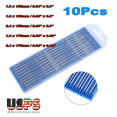"10X TIG Welding Tungsten Electrode 2% Lanthanated Blue 3/32""x 6"" US Seller Fast"