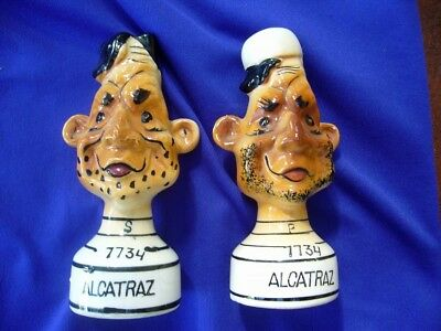 "Alcatraz ""the Rock"" Souvenir Convicts Ceramic Shaker Set Cute!!"