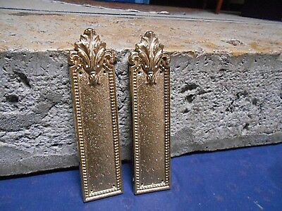 Pair Vintage  FRENCH gilted BRASS  Backplates / PUSH PLATES