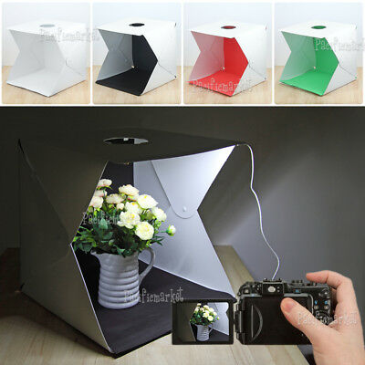 Portable Light Box Photo Studio Photography Shooting Tent Kit 2/4 pcs Backdrops