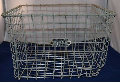 Vintage Gym Locker Wire Basket Kaspar Wire Works D22 Industrial Storage 13x12x8
