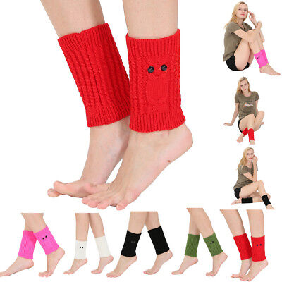 Women Winter Warm Knit Leg Warmers Crochet Leggings Slouch Boot Socks Fashion