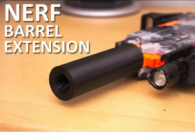 NERF Barrel Extension / Silencer Stryfe Modulus Dart Gun 3D Printed