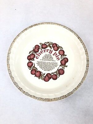 Vintage Royal China Country Harvest Stoneware CHERRY PIE Dish